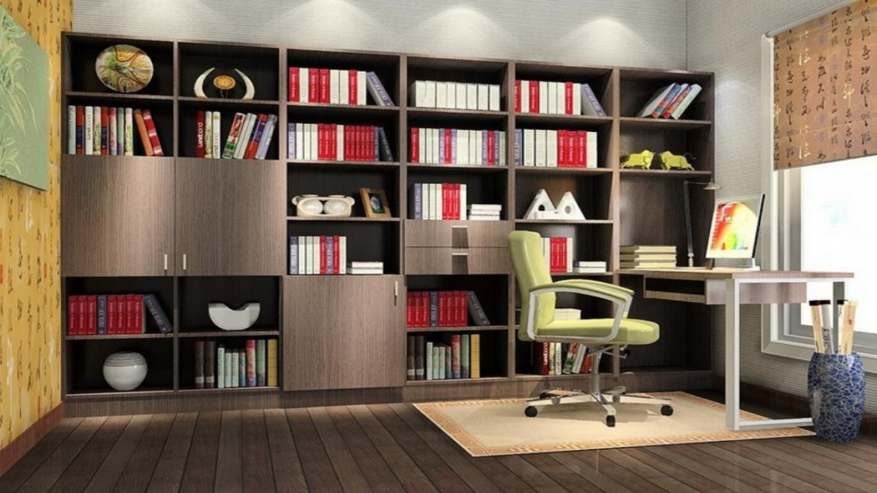 Living meridien interiors units shelves storage - Study room furniture designe ...