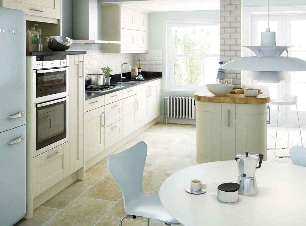 Second Nature Kitchen- Avilon, classic shaker style shown with solid wood worktops
