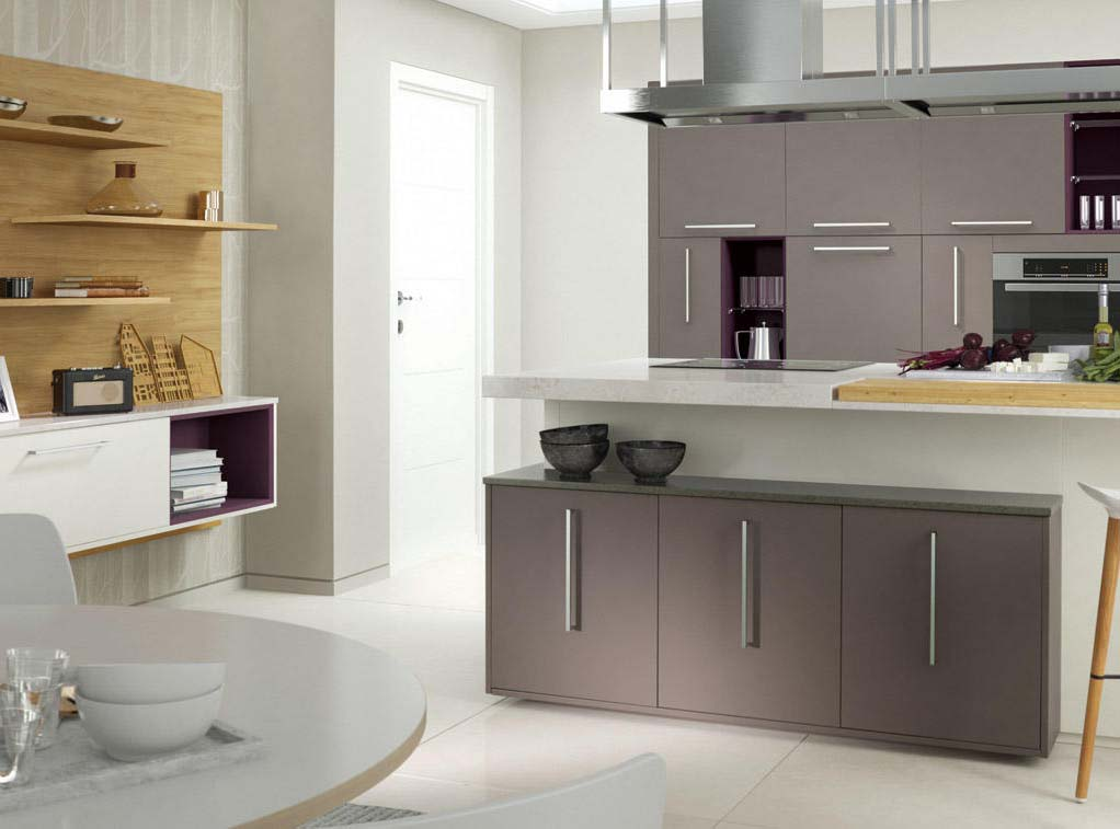 The inzo is a modern contemporary kitchen door from the Ssn Collection. Meridien Interiors are your local Second Nature specialist in Dorset