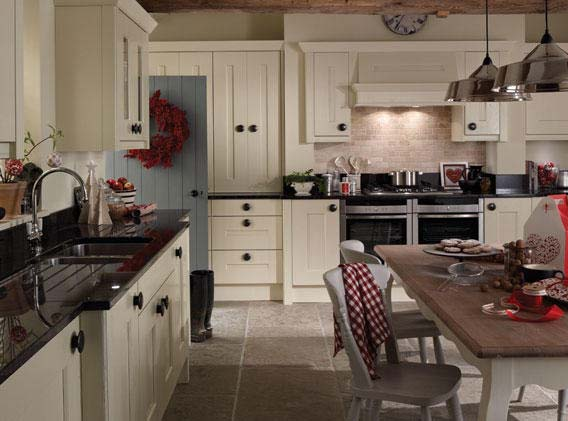 The Second Nature Langham kitchen door is a solid timber door with broad rails and a typical shaker design