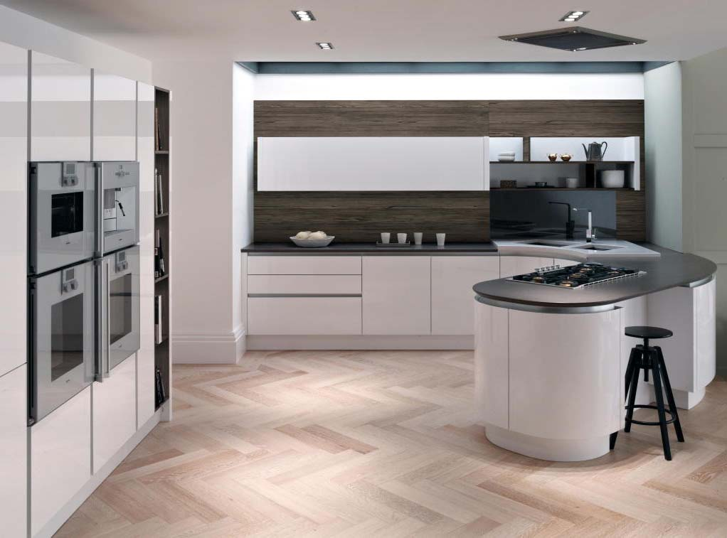 The luxurious inframe Tomba SN Collection kitchen door. A true handleless fitted kitchen
